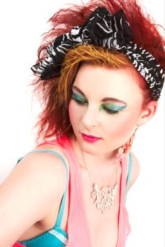80s makeup inspired by Madonna and Cyndi Lauper