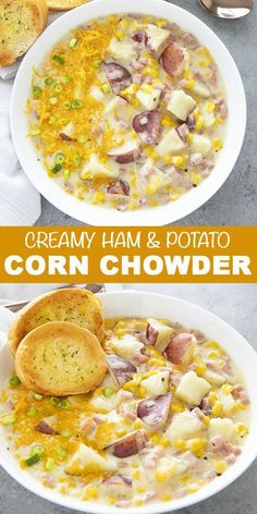 Creamy Corn Chowder - The Salty Marshmallow  Soups and Stews Best Creamy Corn Chowder is easy to make on your stove-top or instant pot!  This flavorful and cozy chowder recipe is filling, comforting, and easy to make!