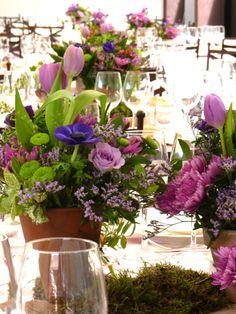 boda romantica anemonas, tulipan, rosas www.eaquilea.com