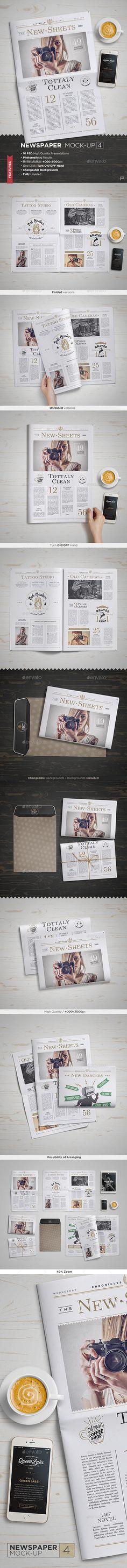 Newspaper Mock-Up #design Download: http://graphicriver.net/item/newspaper-mockup-4/11427146?ref=ksioks