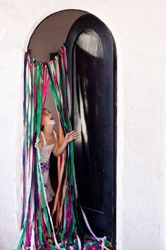 DIY Surprise Streamer Door for Birthdays