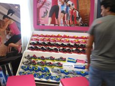 Check out the @Reebok display at #FitBlogNYC! Gorgeous new sneaks, huh? #FitFluential