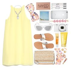 """""""Spring Getaway"""" by jafashions ❤ liked on Polyvore featuring BCBGMAXAZRIA, MANGO, Express, Clinique, Charlotte Russe, River Island, Beauty Rush, Carolee, Topshop and J.Crew"""