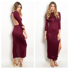 COMING SOON  ❤️❤️PLEASE LIKE THIS LISTING TO BE NOTIFIED OF ITS ARRIVAL❤️❤️  Sassy bodycon dress features 3/4 sleeves, mock neckline and slitted hemline   Fabric content: 96% polyester 4% spandex  This dress will be $55  SIZE SMALL MEDIUM AND LARGE AVAILABLE!!  ⭐️⭐️LIMITED SIZES AVAILABLE-RESERVE ONE TODAY!!⭐️⭐️   ❌NO TRADES ❌ PRICE FIRM Dresses Maxi