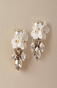 Courtesy of BHLDN; Wedding earrings idea.