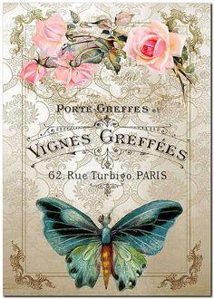 Romantic Meals, Journal 3, Decoupage Vintage, Wood Cutouts, Bird Art, Vintage Flowers, Ephemera, Cardmaking, Butterflies