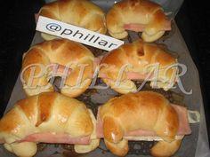 Medialunas de manteca Super faciles (fotoreceta) - Rece... en Taringa! Pan Dulce, Churros, Croissants, Bagel, Scones, Doughnut, Good Food, Food And Drink, Bread