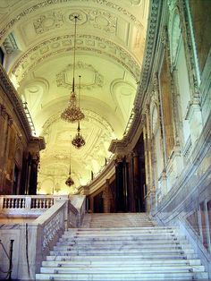 Stairs inside the Hofburg in Vienna