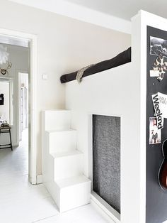studio apartment loft bed. I could have a closet underneath my bed  Or half of the Loft Bed Ideas For Small Rooms Great White Polished Mezzanine Beds