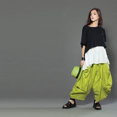 We love lime green!  #fashion #style #lagenlook #layers #Canada #spring #Kaliyana