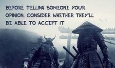 20 pieces of profound wisdom from the Japanese samurai.