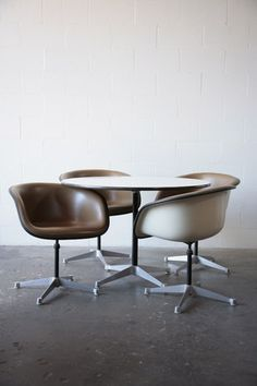 Eames chairs - classic! I remember our Princeton, NJ, YWCA had these in the 70s! A non-profit on the cutting edge of design!