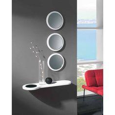Espejos redondos de diseño moderno para recibidores con poco espacio. Aprovecha…