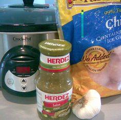 Salsa Verde Crockpot Chicken - 1/2 cup = 3 points plus