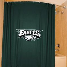Philadelphia Eagles 72'' x 72'' Green Shower Curtain