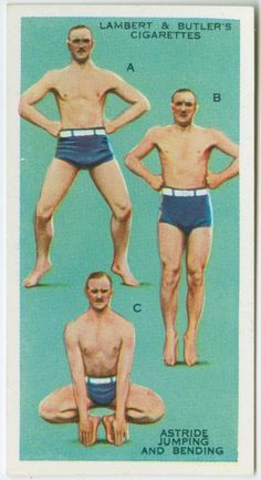 Cigarette card-Exercise and nicotine