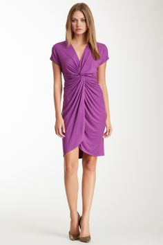 Knotted Front Cascade Dress on HauteLook... but in a different color