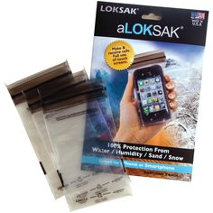 """LokSak impermeabile Stoccaggio Borse iPhone (3"""" x 6""""): Amazon.it: Elettronica"""