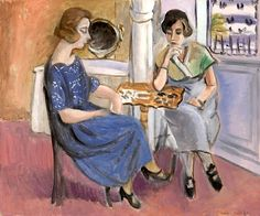 Domino Players (Les Joueuses de dominos): 1920-1921 by by Henri Matisse (The Barnes Foundation, Philadelphia, PA) - Post Impressionism