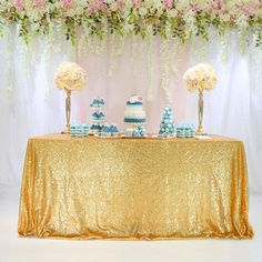 TRLYC Sparkly Gold Square Sequins Wedding Tablecloth, Sparkly Overlays Table Cloth ** Click image for more details. (This is an affiliate link) Curtains Uk, Black Curtains, Easy Christmas Crafts, Christmas Decorations, Sequin Wedding, Wedding Black, Wedding Tablecloths, Sequin Tablecloth, Wedding Rentals