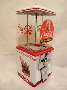 vintage Northwestern Vending Machine that has been completely Restored and themed to: Coca Cola soda This Machine comes complete with all original components including: * Machine Base & Body white & d