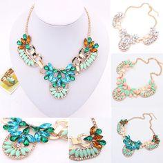 Women Jewelry Charm Luxury Necklace Chunky Statement Bib Pendant Choker Chain #unbranded #Charm