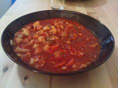 italienisch anmutender tomatiger Gemüseeintopf - vegane Rezepte auf Laubfresser