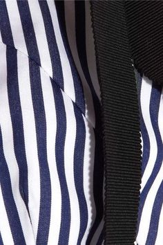 Erdem - Debra Cropped Striped Cotton Top - Navy - UK14