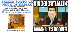 MERCATINI DI NATALE A TALLIN! Offerta volo a/r da Bergamo per una coppia + appartamento dal 02 al 06 Dicembre, 23 Euro a notte a testa!