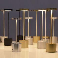 Table lamp / contemporary / indoor/outdoor / metal - LUXCIOLE DORE by Hervé Isle de Beauchaine - HISLE