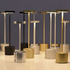 Table lamp / contemporary / indoor/outdoor / metal - LUXCIOLE DORE by Hervé Isle de Beauchaine - HISLE