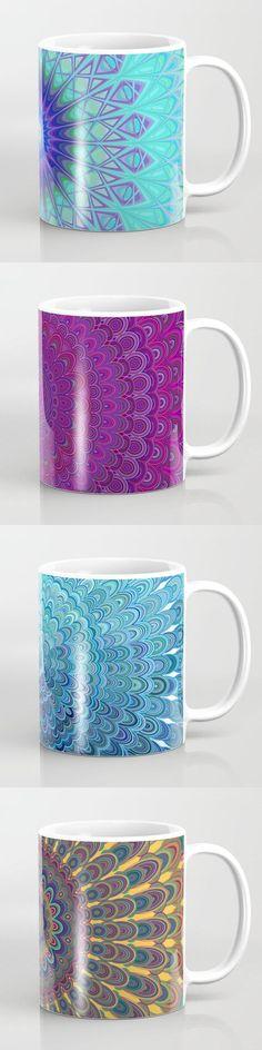 Color Mandala Coffee Mugs  #productdesign #designgift #art #society6art #artwork