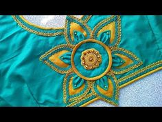 Blouse Design - YouTube Patch Work Blouse Designs, Hand Work Blouse Design, Simple Blouse Designs, Stylish Blouse Design, Saree Blouse Neck Designs, Bridal Blouse Designs, Blouse Patterns, Sumo, Back Neck Designs