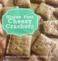 You've gotta try these Gluten Free Cheesy Crackers! They taste just like Cheezits!
