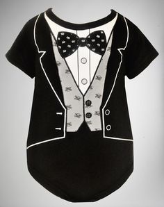 Party points to ME! I just found the Tuxedo Infant Snapsuit from Spencer's. Visit their mobile website to get this item and more like it.