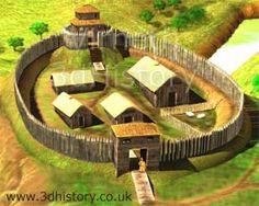 Motte And Bailey was an early form of castle where a large mound of dirt was built up then a wooden fortification was placed on top.