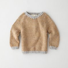 Perfect Sweater from Steven Alan. Shop more products from Steven Alan on Wanelo. Knitting For Kids, Baby Knitting, Knit Fashion, Boy Fashion, How To Purl Knit, Handmade Clothes, Lana, Knitwear, Knit Crochet