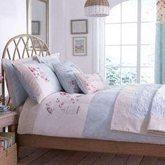 Duck Egg Evelyn Bed Linen Collection | Dunelm