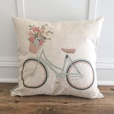 Aqua Bike Pillow Cover