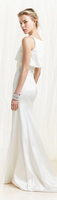 Zac Posen White Evening Gown