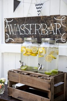 Rent water & limo bar in Cologne & Munich - A limo bar is a welcome guest at outdoor weddings. A limo bar is a welcome guest at outdoor wedding - Cologne, Wedding Catering, Unique Weddings, Outdoor Weddings, Vintage Weddings, Our Wedding, Summer Wedding, Munich, Wedding Decorations