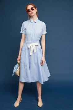 Delrey Tie-Waist Shirtdress (use Reeta pattern & chambray)