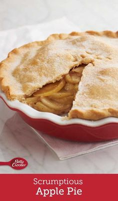 """It's a classic for a reason. Making an apple pie from scratch is so much easier than you might think, especially with this time-tested pastry dough recipe. Just watch for those big smiles when you announce, """"We're having apple pie for dessert. Apple Pie Recipes, Fall Recipes, Holiday Recipes, Baking Recipes, Fresh Apple Pie Recipe, Apple Pies, Bread Recipes, Just Desserts, Delicious Desserts"""