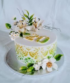 Green cake by alenascakes