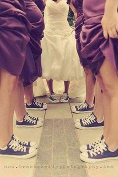 Screw heels! I'm wearing Chuck Taylor's on my wedding day!