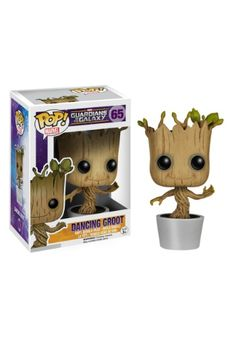 """This POP! Vinyl Dancing Groot Bobble-Head Figure can only be described in three words, """"I am Groot."""" It's licensed from the Guardians of the Galaxy movie."""