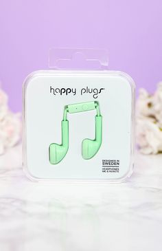 Happy Plugs - Earbud - Mint from Peppermayo.com from Peppermayo.com
