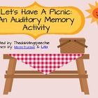 FREEBIE visuals for the auditory memory game Let's go on a picnic!