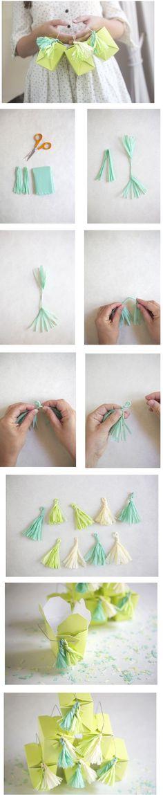 Crepe Paper Tassels