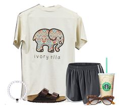 """Really want this shirt!!! So cute"" by flroasburn on Polyvore featuring NIKE, Birkenstock and H&M"